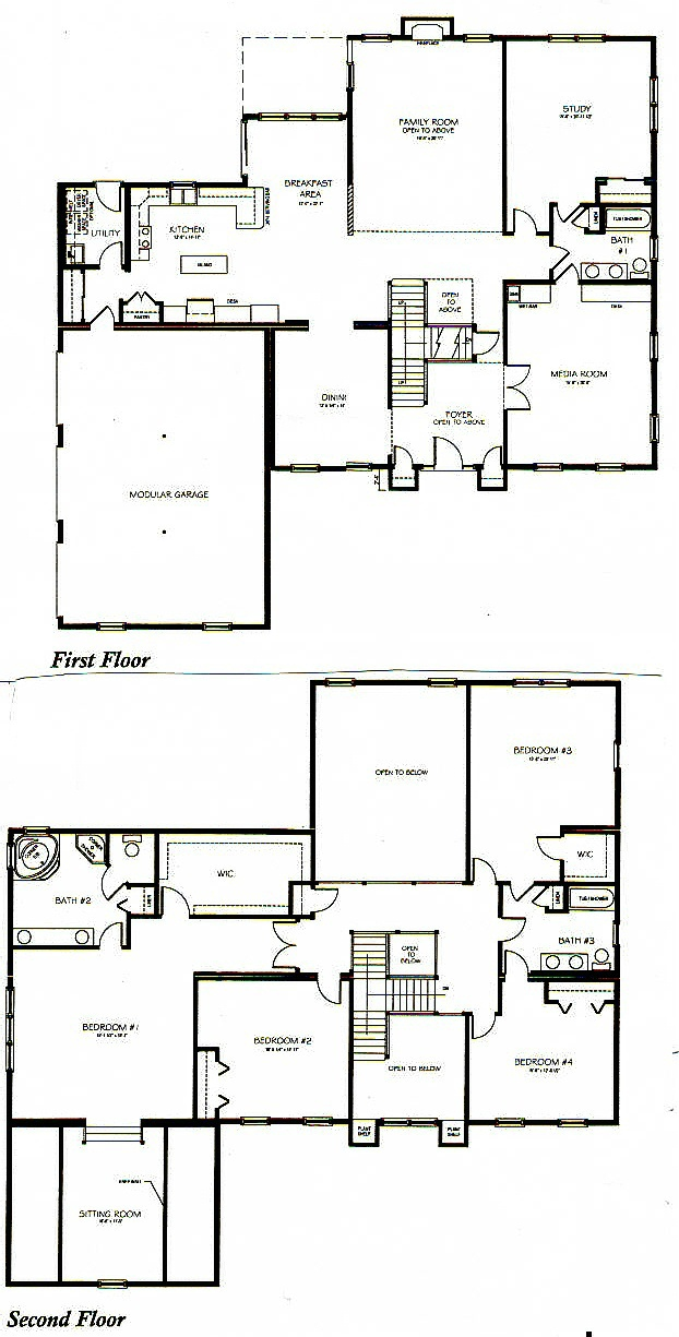 Two story house plans for 2 story floor plans
