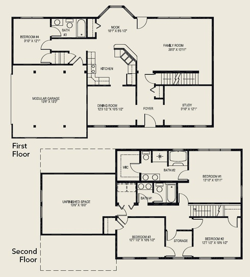 click on house to see floor plan