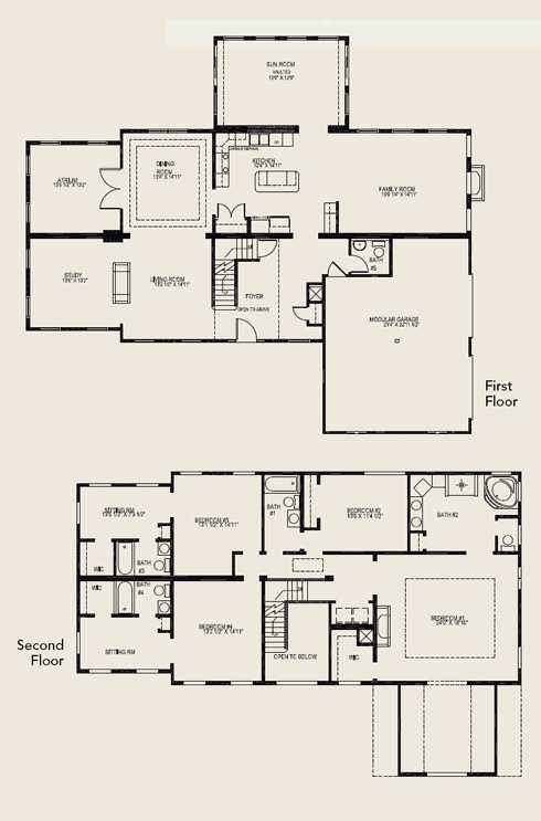bedroom house plans 2 story two story house plans